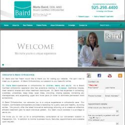 Baird Orthodontics Website