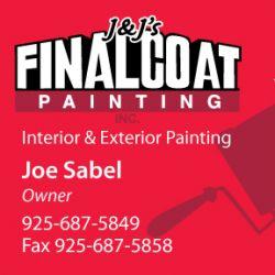 J & J Final Coat Painting Business Card