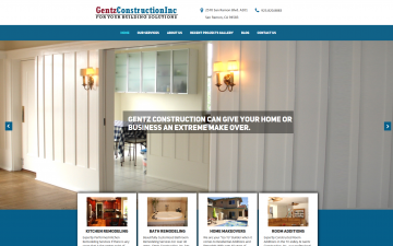 Gentz Construction Website