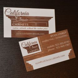 California Classic Cabinets Business Card