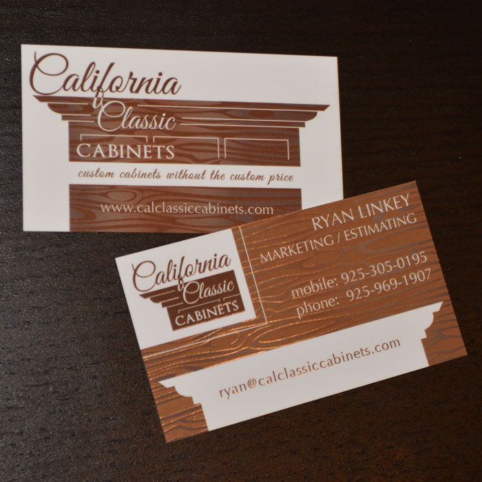 California Classic Cabinets, Annette Frei Graphics, 360 Web Designs, great business card ideas