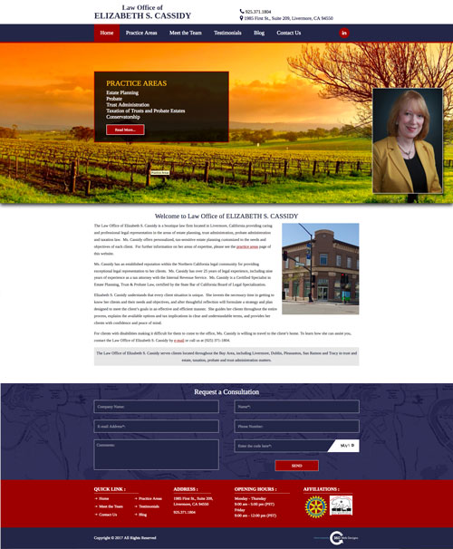 Portfolio | Cassidy Law | Livermore, CA |360 web designs