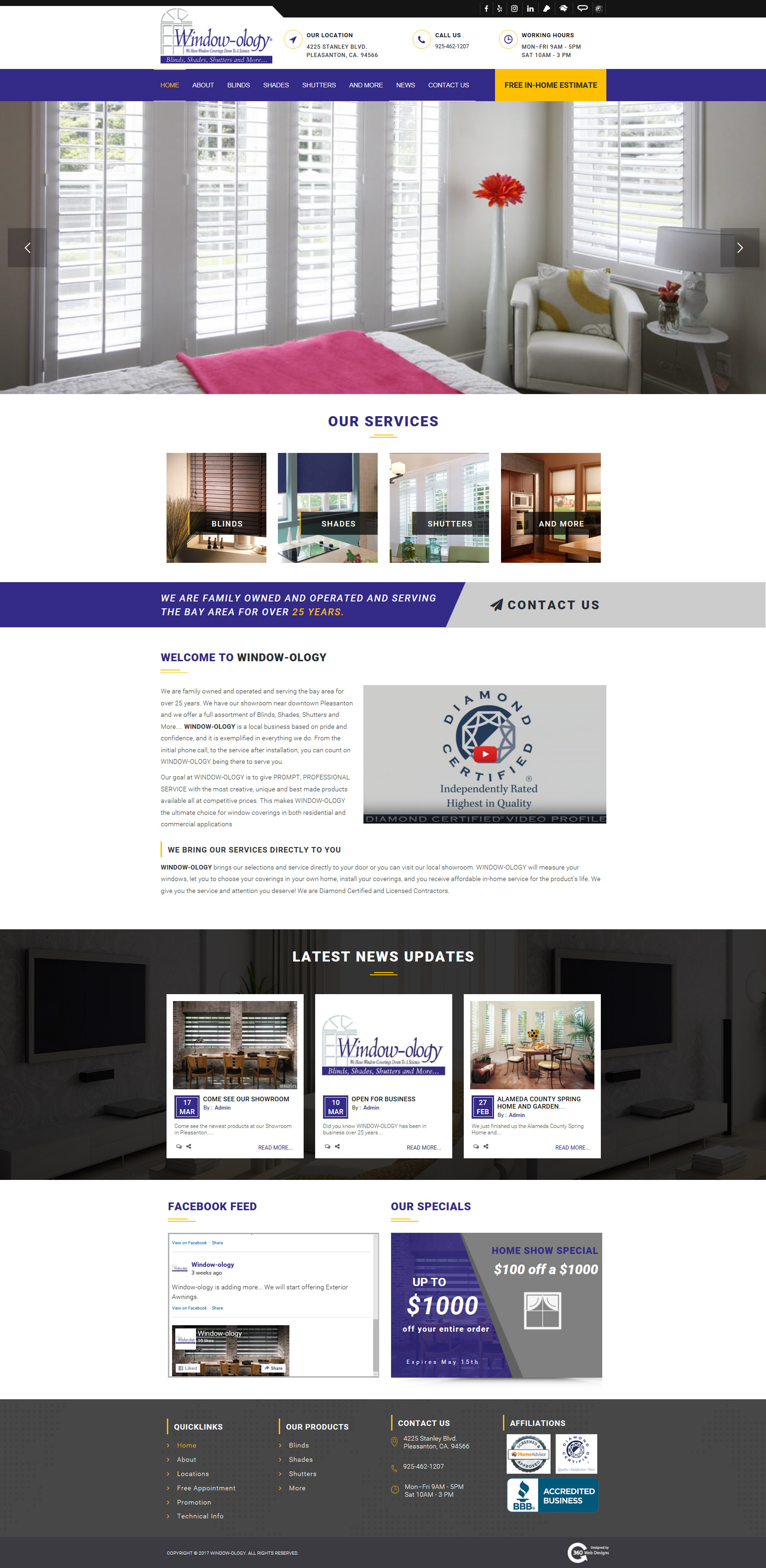 Windwo-ology home page | 360 Web Designs