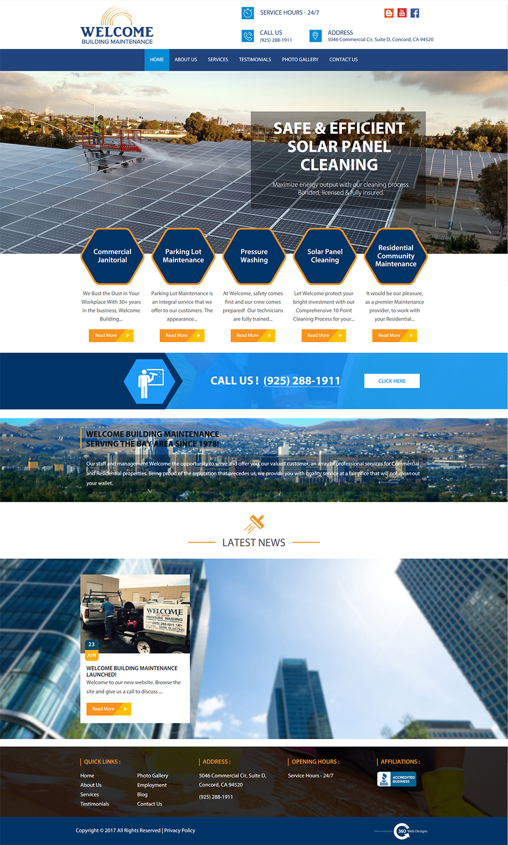 Welcome Building Maintenance | 360 Web Designs