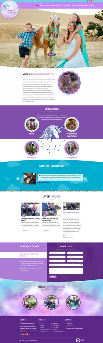 Enchanted Ponies and Pets | 360 Web Designs | Danville Ca