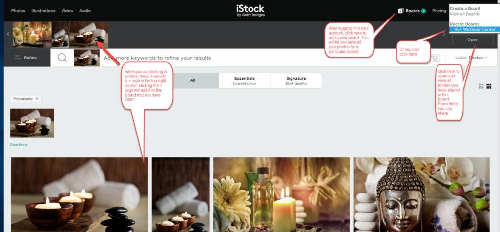 360 Web Designs   iStock Board