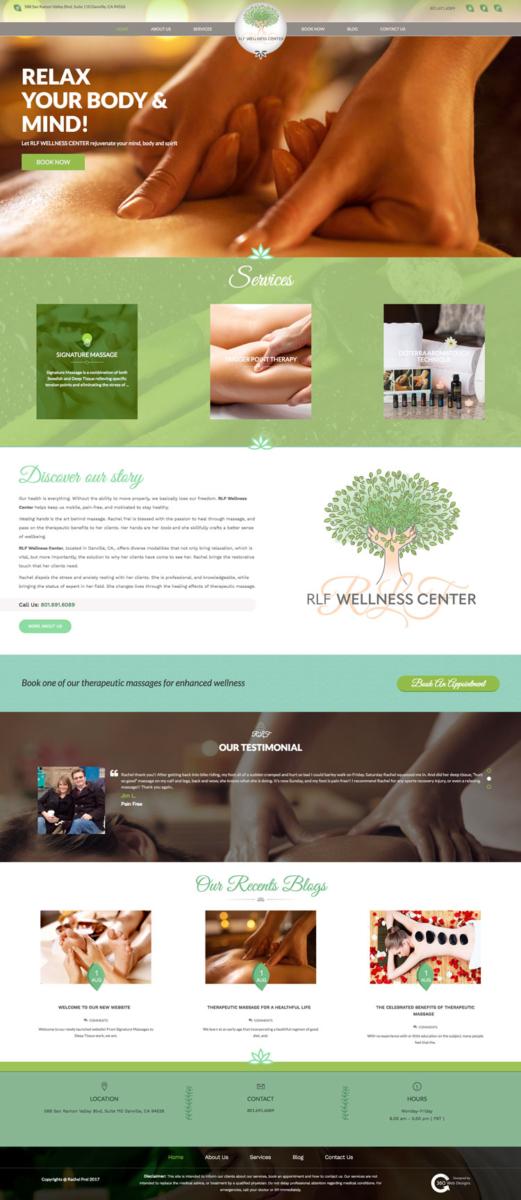 Portfolio | RLF Wellness Center | Danville, CA |360 web designs