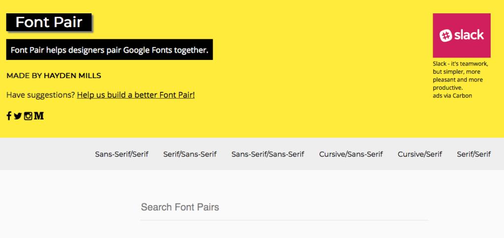 Google font pairing | 360 Web designs